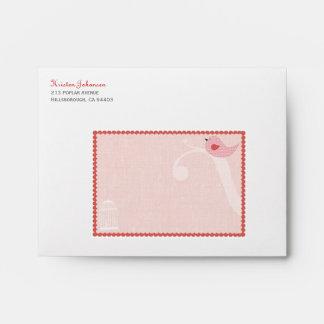 Birdie Personalized Envelope