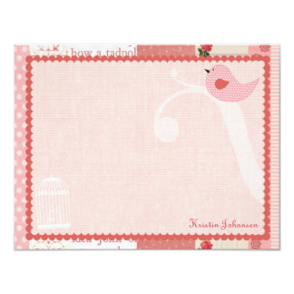Birdie Personalized Flat Note Cards