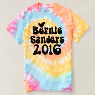 Birdie Sanders 2016 Bernie Tie Dye T-shirt