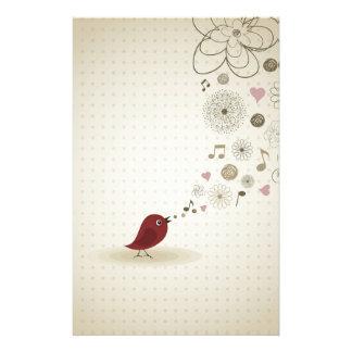 Birdie sings stationery
