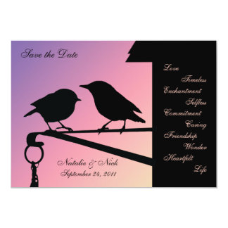 Birdie Sunset/ Save the Date Card