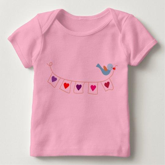 birdie valentine hearts baby T-Shirt