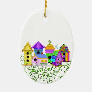 Birdie Village Ornament
