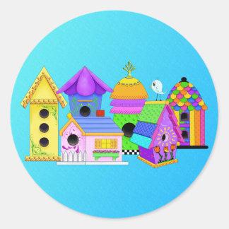 Birdie Village Round Stickers