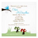 Birdie Woodland 5x5 Baby Shower Invitation