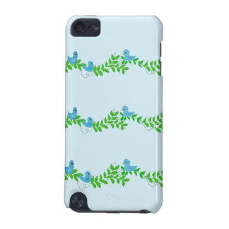 Birdies and Vines on a Blue Background iPod Touch 5G Case