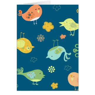 Birdies on Blue Cards