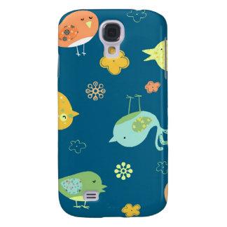 Birdies on Blue Samsung Galaxy S4 Covers