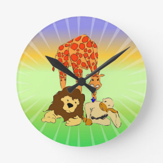 Birdie's Search for Hippo Round Wallclock