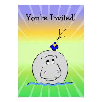 Birdie's Search for Hippo Custom Invitations