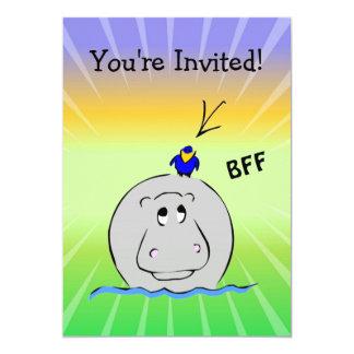 Birdie's Search for Hippo Personalized Invite