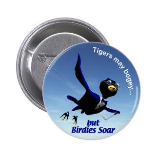 Birdies Soar Pinback Button
