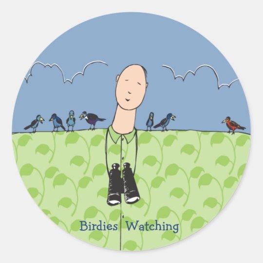 Birdies Watching Stickers