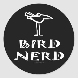 Birding, Birdwatching, Ornithology Classic Round Sticker