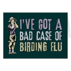 Greeting Card with Birding Flu design