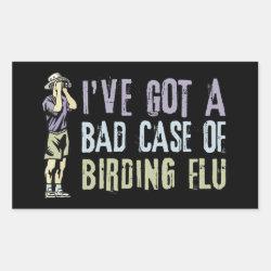 Rectangle Sticker with Birding Flu design