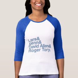 Ladies Raglan Fitted T-Shirt with Birding Legends design