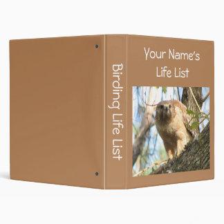 Birding Life List Vinyl Binders