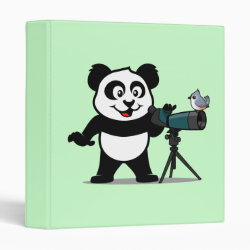 Avery Signature 1' Binder with Cute Birding Panda design