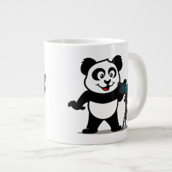 Jumbo Mug with Cute Birding Panda design