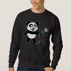 Men's Basic Sweatshirt with Cute Birding Panda design