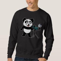 Men's Basic Sweatshirt with Cute Birding Panda design