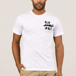 Men's Basic American Apparel T-Shirt with Cute Birding Panda design