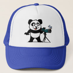 Trucker Hat with Cute Birding Panda design