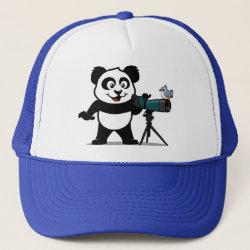 Trucker Hat with Cute Birding Panda design