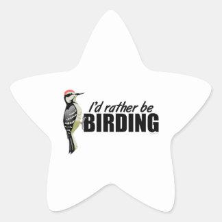 Birding Pegatina En Forma De Estrella