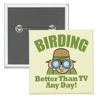 Birding Pin Cuadrada 5 Cm
