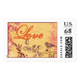 BirdLoveStampLarge Postage Stamp