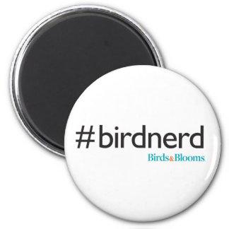 #BirdNerd 2 Inch Round Magnet