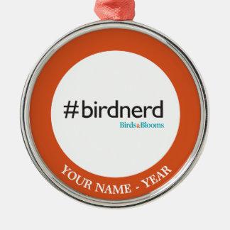 #BirdNerd Metal Ornament