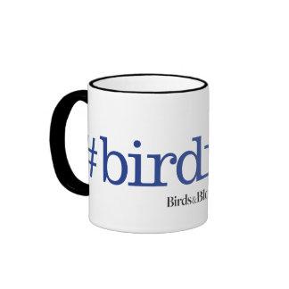 #birdnerd taza a dos colores