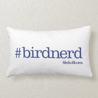 #birdnerd throw pillow