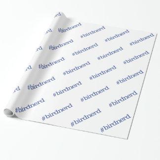 #birdnerd wrapping paper
