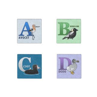 Birdorable A-B-C-D Imán De Piedra