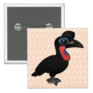Birdorable Abyssinian Ground Hornbill Button
