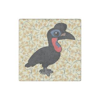 Birdorable Abyssinian Ground Hornbill Stone Magnet