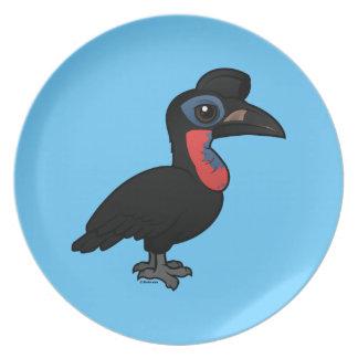 Birdorable Abyssinian Ground Hornbill Dinner Plates