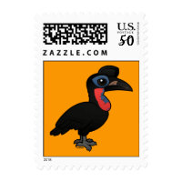 Abyssinian Ground Hornbill Small Stamp 1.8