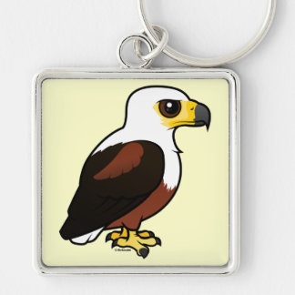 Birdorable African Fish-Eagle Silver-Colored Square Keychain