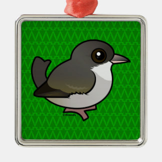 Birdorable 'Akikiki Square Metal Christmas Ornament