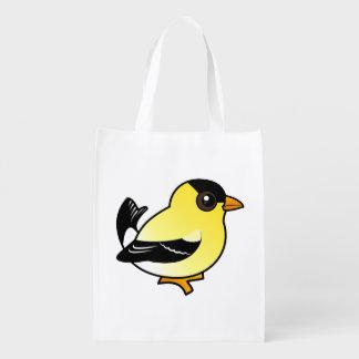 Birdorable American Goldfinch Grocery Bags