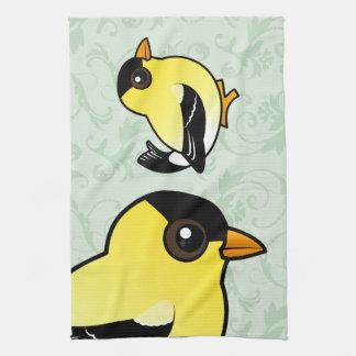 Birdorable American Goldfinch Hand Towels