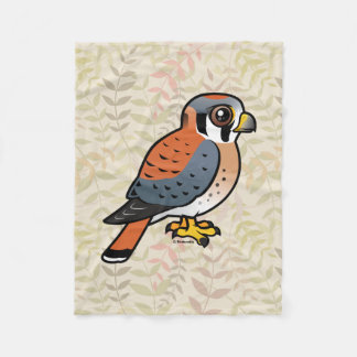 Birdorable American Kestrel Fleece Blanket