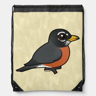Birdorable American Robin Drawstring Bag