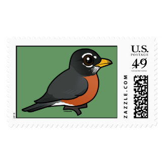 Birdorable American Robin Postage Stamp