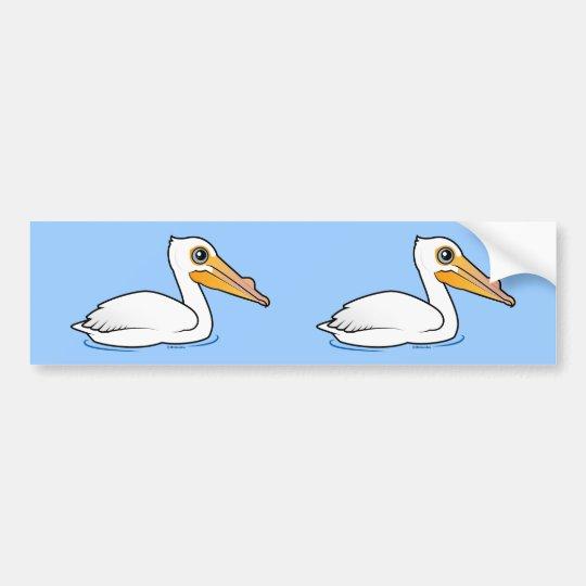 BIrdorable American White Pelican Bumper Sticker